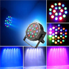 For DJ Disco Party Lighting 18 LEDS RGB Stage Light Flat Par Lamp Club