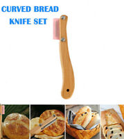 Bread Bakers Lame Slashing Tool Dough Making Cutter with 5 Blades Wood Handle