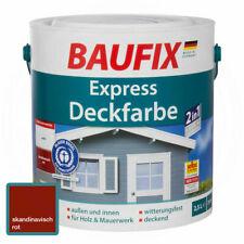 BAUFIX Express Deckfarbe - Skandinavisch Rot, 2,5L