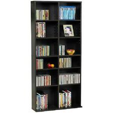 Media Tower Rack Storage Adjustable Shelf Cabinet Cd Dvd Organizer Stand Holder