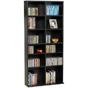HxWxD wooden shelf WOODEN CD /& BOOKSHELF NATURErecycled wood 94x36x17cm