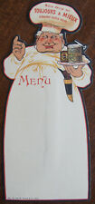 MENU VIERGE , AMIEUX FRERES , TOUJOURS MIEUX ,  CUISINIER   (vers1900)