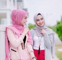 Women's Long Scarf Muslim Hijab Jersey Stole Pashmina Shawl Wraps Accessories