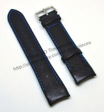 Seiko Sportura SPC089P1 SNAE89P1 SNAE91 - 21mm Black Leather Watch Band Strap
