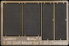 Alliance Model Works 1:35 Grill Mesh for Tamiya T-55 - PE Detail Set #LW35017