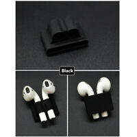 Silicone Shock Proof Protective Cover Case For Apple AirPods Headsets Black