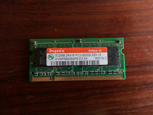 512Mb PC2 3200 2Rx16 memory for laptop from hynix  !