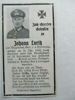 RARE WWII German Death Card, KIA BY THE EXPLOSION OF A RUSSIAN MINE, Leningrad