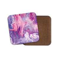 Pretty Purple Marble Coaster - Ink Art Artist Student Girls Awesome Gift #15852