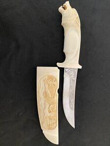 Custom Handmade Mammoth Tusk Knife,Collectable.