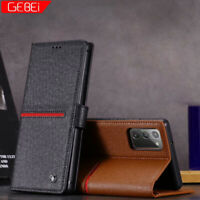 Luxus Leder Wallet Case Taschen Handy Hülle Für Samsung Note 20 S20 Plus iPhone