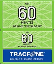 TRACFONE 60 MINUTE REFILL  ONLY Fast Cell Phone Time 90 Days Of Service