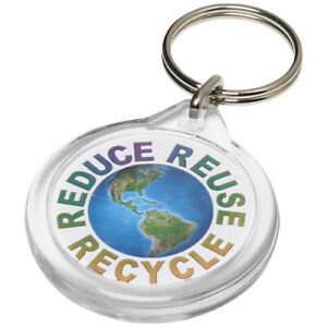 Classic Insert Key Rings - I1 clear acrylic fobs UK Made 33mm round inserts