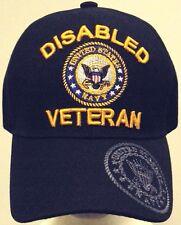 LICENSED DISABLED U.S. NAVY NAVAL USN VETERAN VET DAV MILITARY INSIGNIA CAP HAT