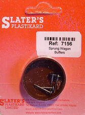 More details for slaters 7156 - 7mm (0) 1 set (4) 7mm dia. metal sprung wagon buffer kit 1st post