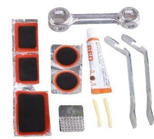 12pc Bike Tyre Puncture Repair Kit