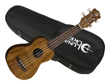 Luna Flamed Acacia Soprano Ukulele w/ Light Case NEW uke