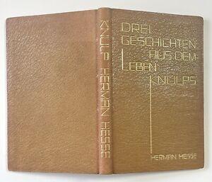 Hermann Hesse. Knulp. Fischer, 1925. Ledereinband mit Goldbeschriftung.