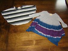 Jenna & Jessie Lot of Two Girls Kids Shirts Tops Tie Dyed Striped Size 4