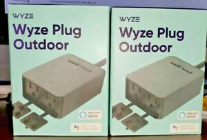 Wyze Plug Outdoor NEW SEALED (2 Plugs In 1)  Model #WLPPO1-1 Includes  2  Units