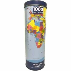 World Map 1000 Pc Jigsaw Puzzle in tin Kids & Adults Geography Education Gift
