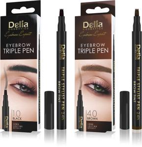 Delia Cosmetics Feather Eyebrow Marker Triple Stylist Pen 24H - Black