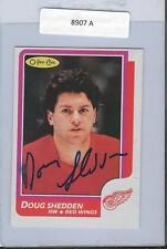 Doug Shedden 1986 OPC Autograph #153 Red Wings