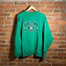 Vintage Boston Celtics Logo Athletic Basketball Crewneck Sweatshirt Throwback
