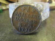ancienne piece monnaie coin denmark danemark 1 skilling danske rm 1771 a   5