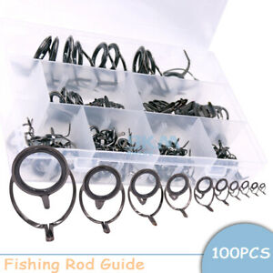 Stainless Steel Fishing Rod Guides Eyes Ceramic Rings Use for Saltwater Fishing