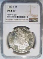 1880 S Silver Morgan Dollar NGC MS 64 Star Deep Mirrors PL Graded Coin
