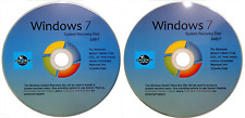 WIN 7, 32 & 64 Bit System Recovery Software Disc's - 2017 x 2 -NEW