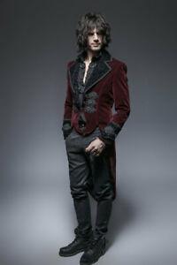 Roter Samtfrack Gothic Victorian Jacket von Punk Rave