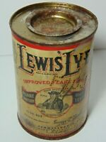 Rare Vintage 1939 Lewis Lye Graphic One Pound Salt CAN Philadelphia Pennsylvania