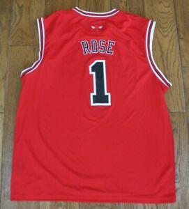 ROSE #1 ADIDAS CHICAGO BULLS NBA BASKETBALL SHIRT MENS XL RARE