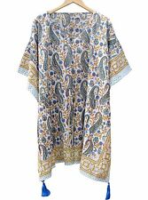 Indian Cotton Caftan Short Kaftan Hippie Night Dress Women's Clothing !Poncho