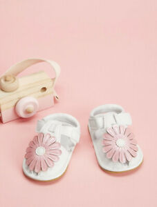 Baby Floral Decor Sandels Infant Girls EUR20 12cm White Pink