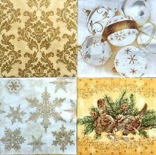 4 Vintage Lunch Paper Napkins for Decoupage Party Craft Multi Flowers C13