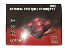"Kootek Laptop Cooling Pad 12""-17"" Cooler Pad Chill Mat 5 Quiet Fans LED Lights"