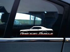 American Muscle classic car sticker for 1970 Plymouth Duster (version 1: plain)