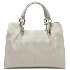 """Thompson Luxury Bags """"Melissa"""" Rhombus Leder Tasche H-BEIGE Handtasche UVP 198 €"""