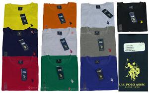 Us Polo Assn maglietta UOMO cotone manica corta t-shirt Essenziale cn logo S/2XL