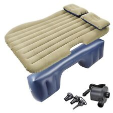 Inflatable Mattress Backseat Cushion Car Air Bed Travel Camping w/ Pillow Pump