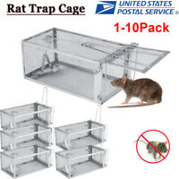 10X Rat Trap Cage Small Live Animal Pest Rodent Mouse Control Catch Hunting Trap