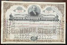 "JOHN B. STETSON CO. Stock 1913. Philadelphia. V. Early Issue. First ""Cowboy Hat"""