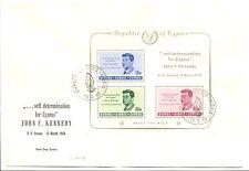 CYPRUS 1965 COVER -FDC MI# Bl. 3 --CV € 100 - KENNEDY ---@2