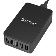 ORICO 5 x 2.4A FAST USB Port Mains Multi Charger Plug UK Power Adapter (40W 8A)