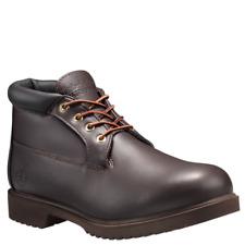 Timberland Chukka Mens 22049 Dark Brown Leather Waterproof BOOTS Size 9.5