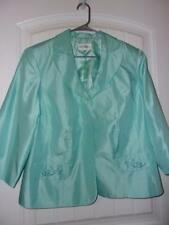 StudioOne womens Jacket Mother of Bride Silky Aqua -Tiny beads - lined size 20w