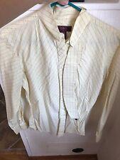 MIKU Size 38 Yellow & Blue Checkered Long Sleeve Huntseat Shirt